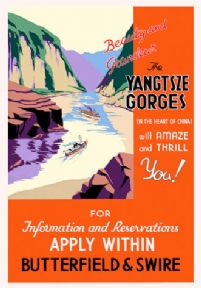 The Yangtsze Gorges Vintage Travel Poster